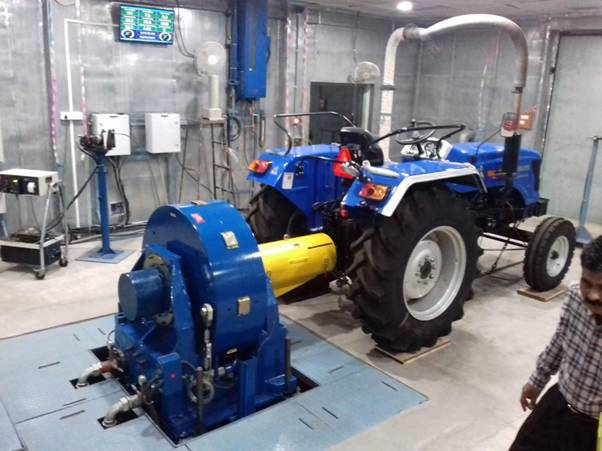 Central Farm Machinery Training & Testing Institute, Budni (MP) tests the first-ever electric Tractor in the Institute