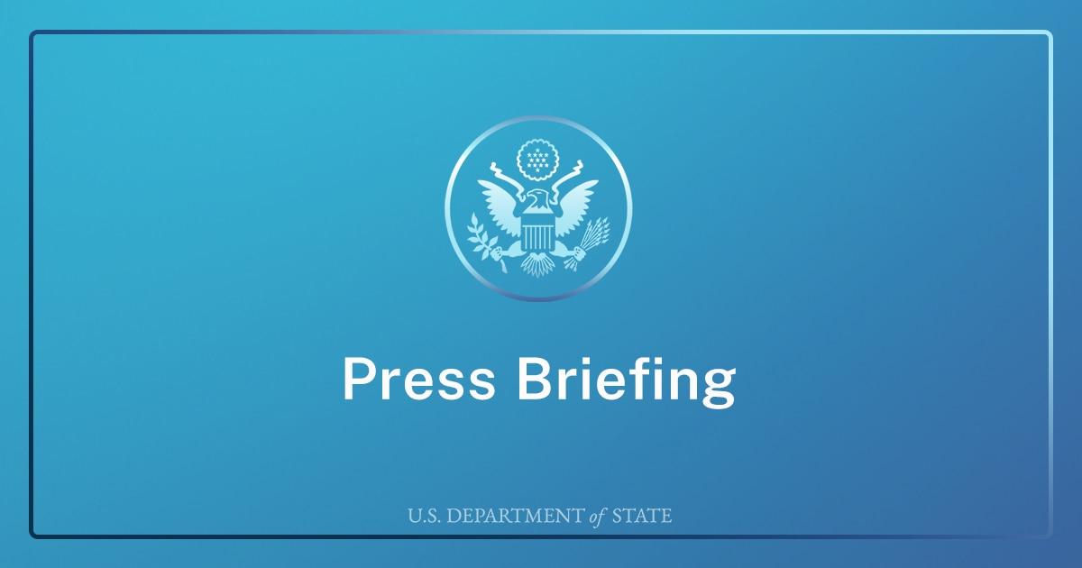 Department Press Briefing – April 8, 2021