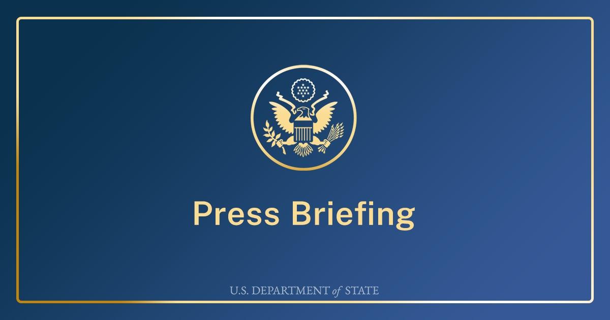 Department Press Briefing – April 9, 2021