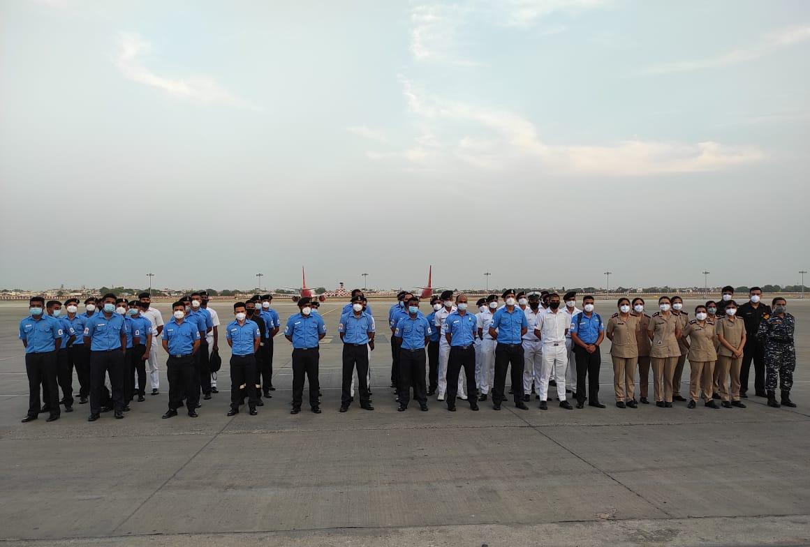 INDIAN NAVAL MEDICAL TEAM FROM WESTERN NAVAL COMMAND DEPUTED FOR PM COVID CARE HOSPITAL AT AHMEDABAD