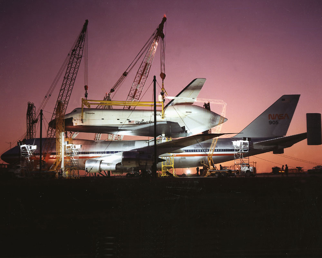 March 18, 1978: Space Shuttle Enterprise Arrives for Vibration Testing