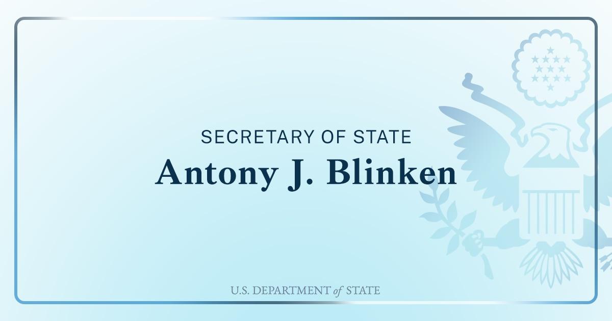 Secretary Antony J. Blinken at a Virtual Town Hall with U.S. Mission Nigeria and U.S. Embassy Nairobi Employees and Family Members