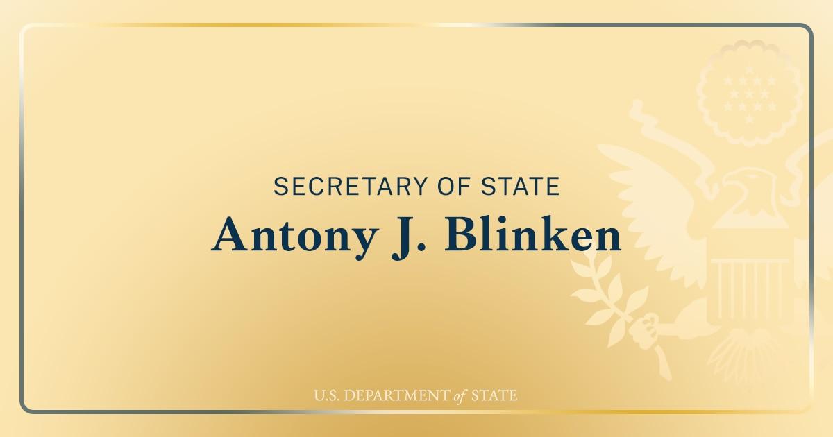 Secretary Antony J. Blinken at the Virtual U.S.-Nigeria Health Partnership Event