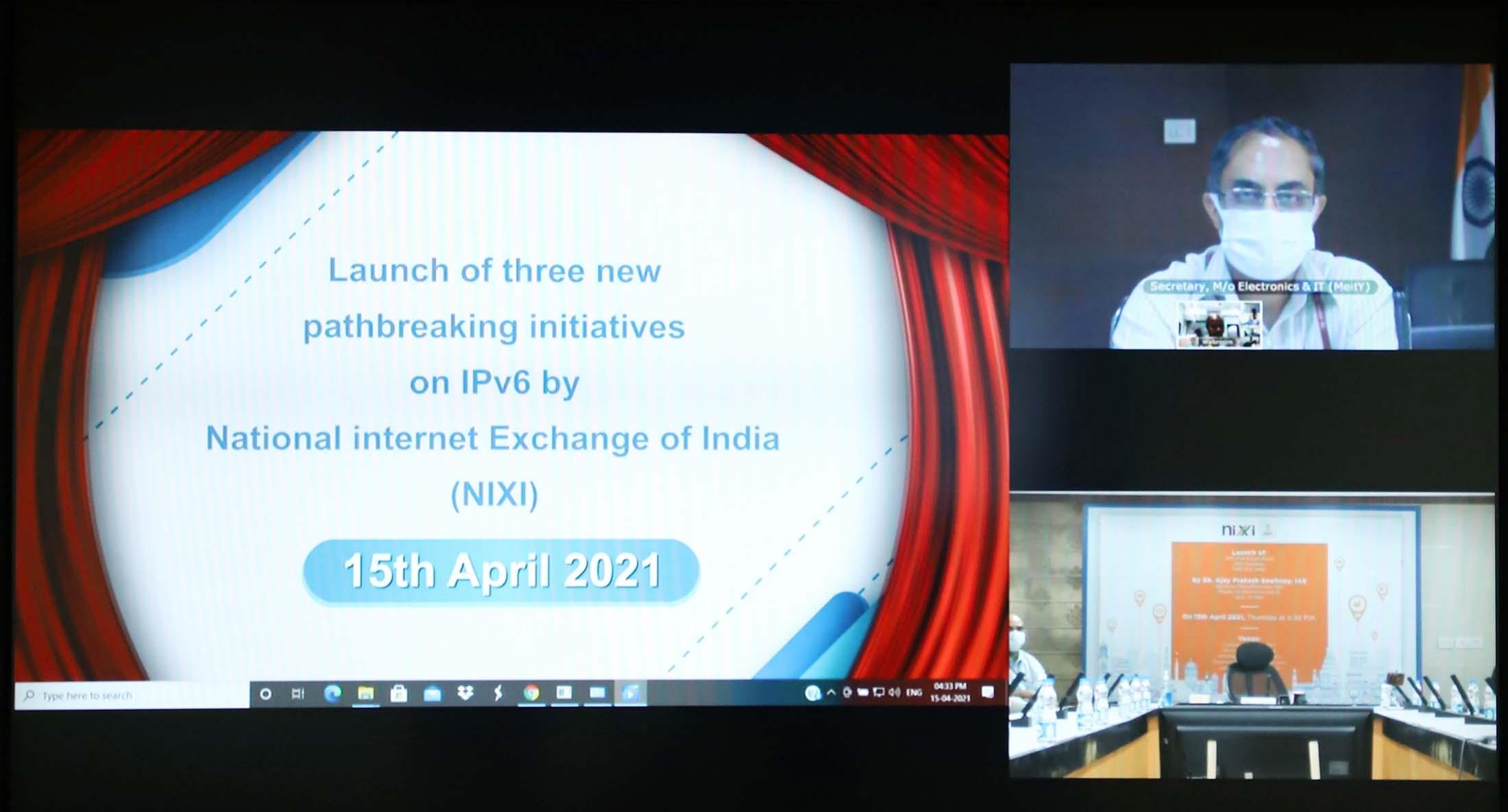 Secretary MeitY Shri Ajay Prakash Sawhney inaugurates three new initiatives/services of National Internet Exchange of India