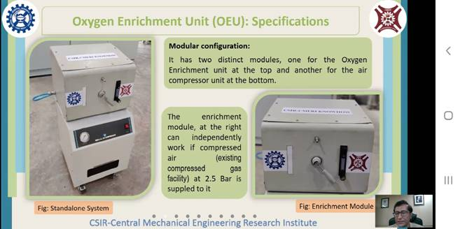 Webinar of MSME DI, Cuttack on Oxygen Enrichment Unit developed by CSIR-CMERI