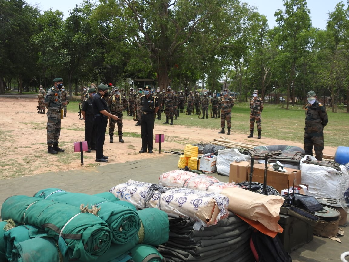Assistance by Indian Army for Cyclone Yaas in West Bengal