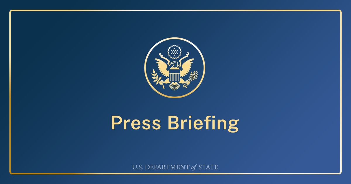 Briefing with Senior State Department Official to Traveling Press