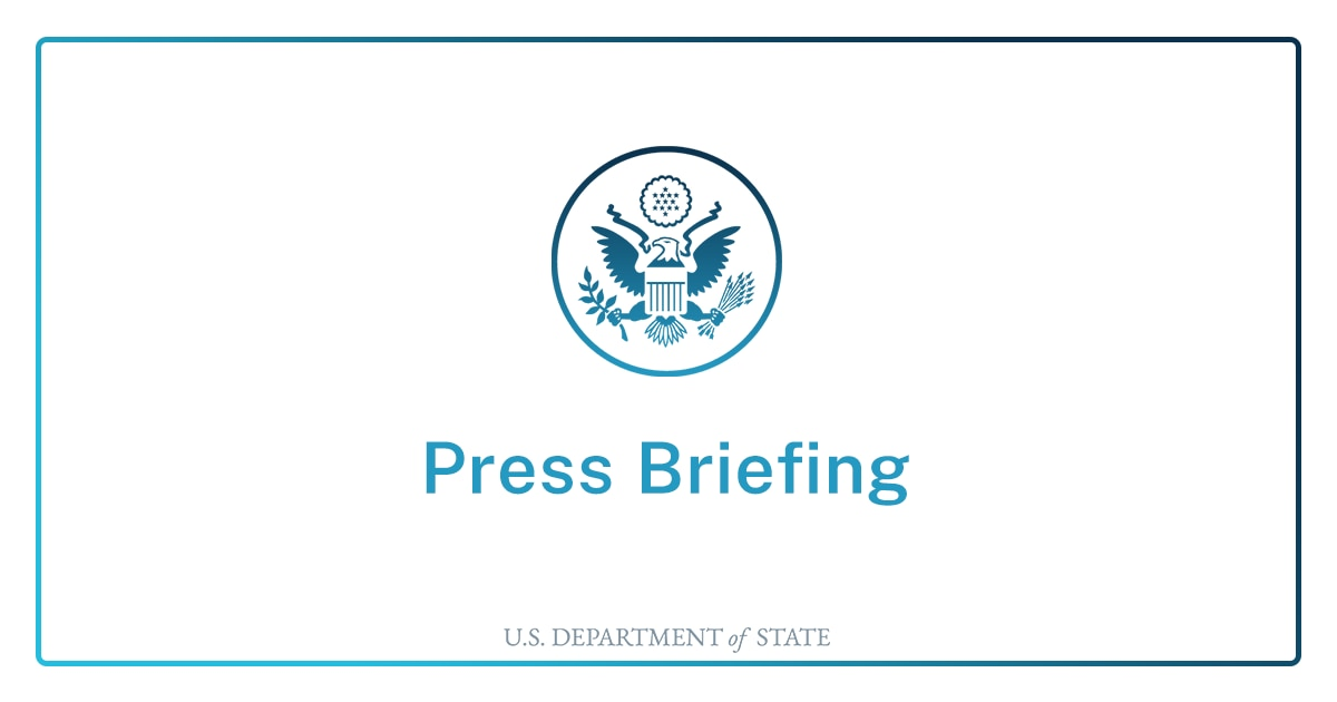 Briefing With Senior State Department Officials to Traveling Press