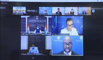 Dr. Harsh Vardhan chairs the opening session of the 33rd Conference of Health Ministers of Commonwealth Countries