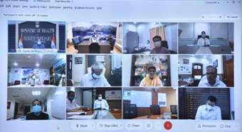 Dr. Harsh Vardhan reviews Public Health Response to COVID-19 and Progress of Vaccination with West Bengal and the 8 States of the North-East