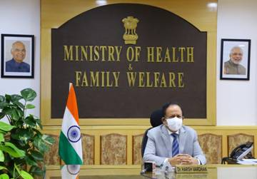 Dr Harsh Vardhan virtually participates in a meeting with Ministers of Health of the NAM (Non-Aligned Movement) Countries