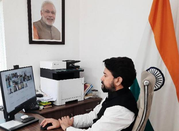 Minister of State for Finance and Corporate Affairs Shri Anurag Singh Thakur launches 1st Phase of MCA21 Version 3.0