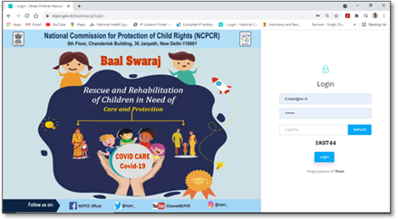 """NCPCR Asks States/UTS to Upload Data of Children Who Have Lost Both or Either of The Parent To Covid-19 On Online Tracking Portal """"Bal Swaraj (Covid-Care)"""""""