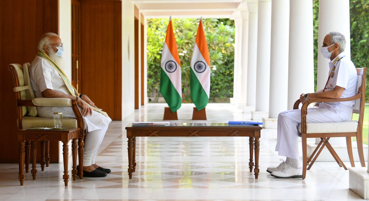 PM reviews Covid related initiatives by the Indian Navy