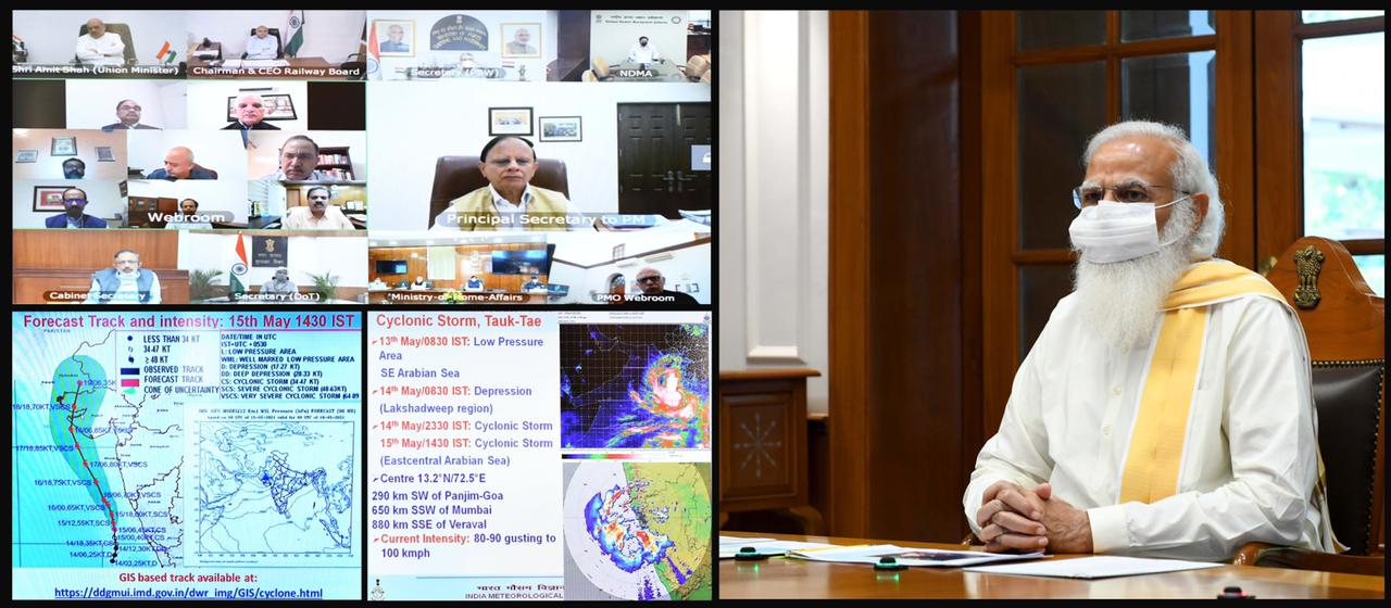 Prime Minister holds high level meeting to review preparedness on Cyclone 'Tauktae'