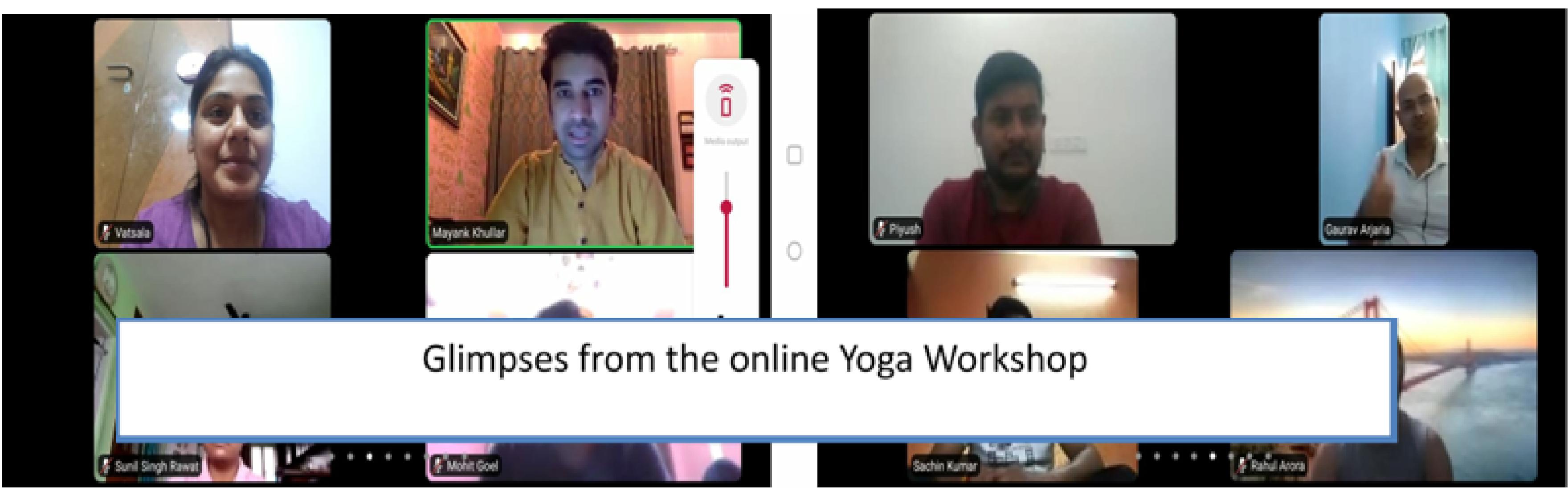 SECI Organizes Online Yoga Workshop for Employees