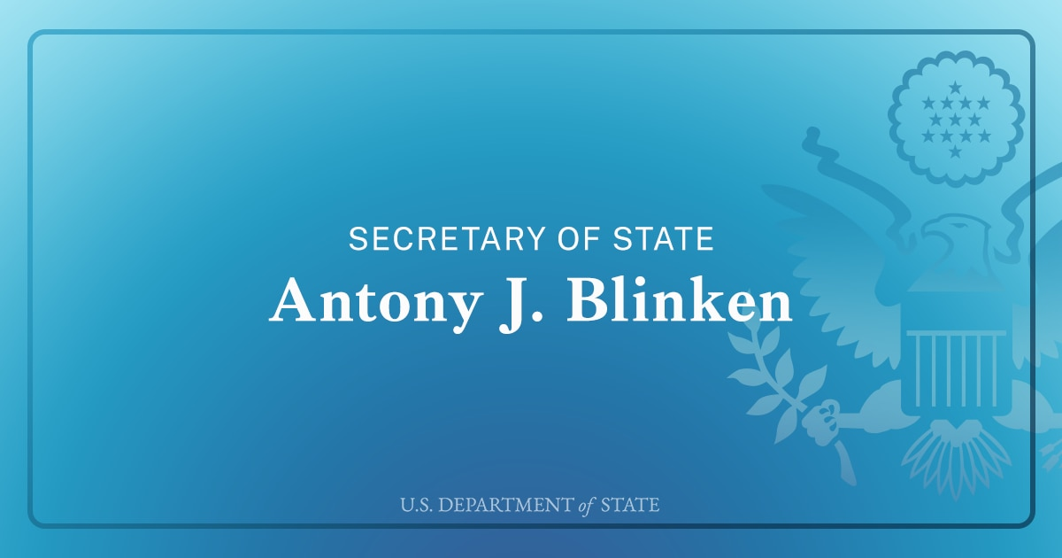 Secretary Antony J. Blinken to Embassy Iceland Staff and Families