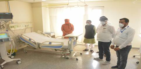 Union Labour Minister inspected the upgraded Covid related medical facilities at ESIC Medical College & Hospital, Alwar