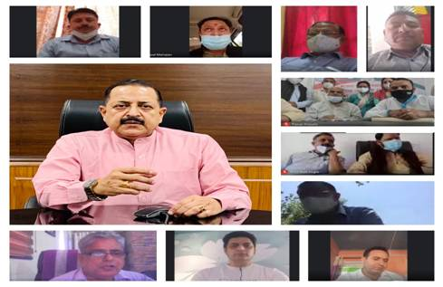 Union Minister Dr. Jitendra Singh convenes a meeting of his Udhampur-Kathua-Doda Lok Sabha constituency to discuss COVID related community service programmes