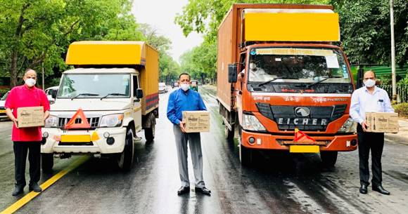 Union Minister Dr. Jitendra Singh dispatches separate consignments of COVID related material for the two capital cities of Jammu and Srinagar