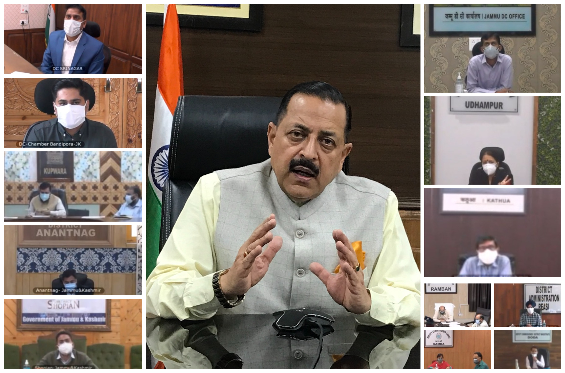 Union Minister Dr Jitendra Singhcalls for revival of free Tele-Consultation facilities in all districts of Jammu & Kashmir for rural and home isolation patients