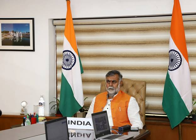 Union Minister of State for Tourism & Culture (I/c) Shri Prahlad Singh Patel virtually participates in G20 Tourism Ministers' Meeting held in Italy today