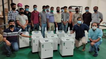 Indigenously designed & manufactured high purity oxygen concentrator being supplied to Indian hospitals