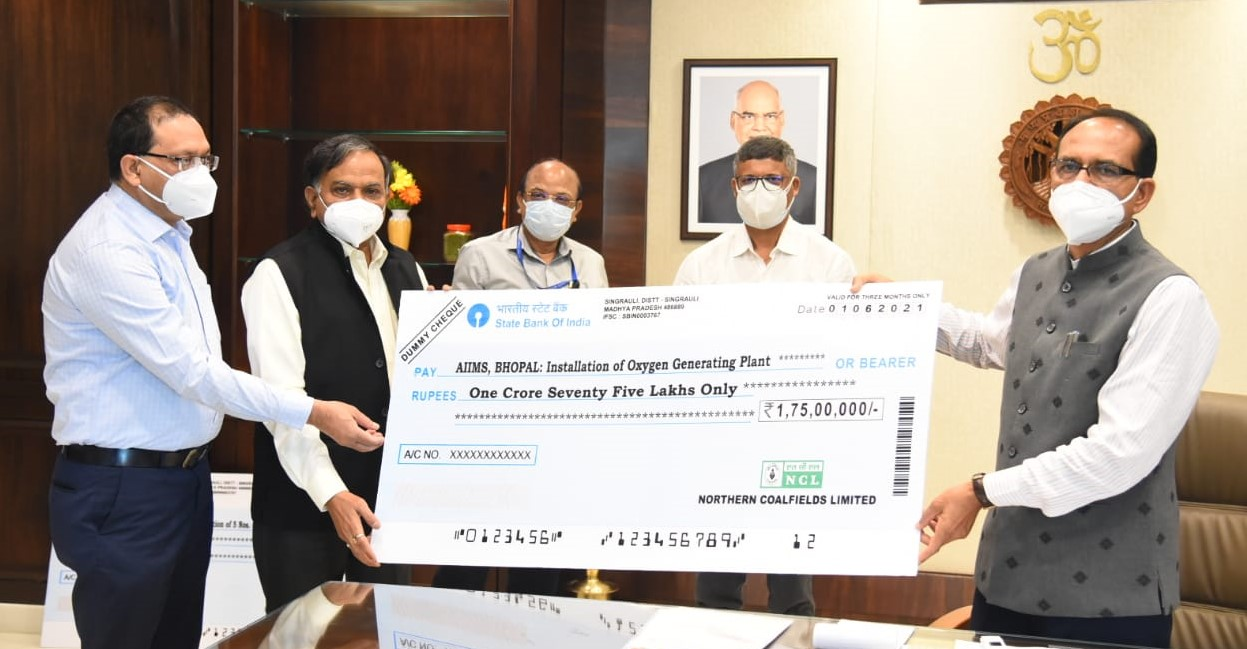 NCL contributes Rs. 10 Crore to MP Government to support its fight against COVID