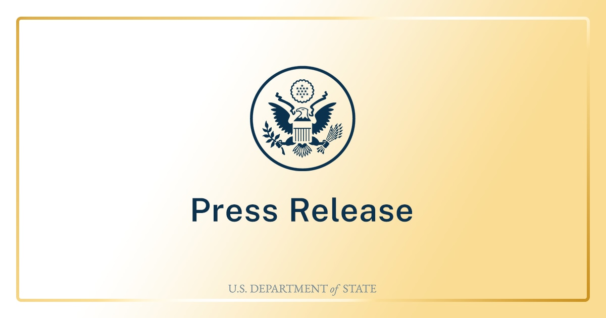 Secretary Antony J. Blinken and Albanian Prime Minister Edi Rama At a Signing of a Memorandum of Understanding between the Government of the United States of America and the Council of Ministers of Republic of Albania on 4G and 5G Security
