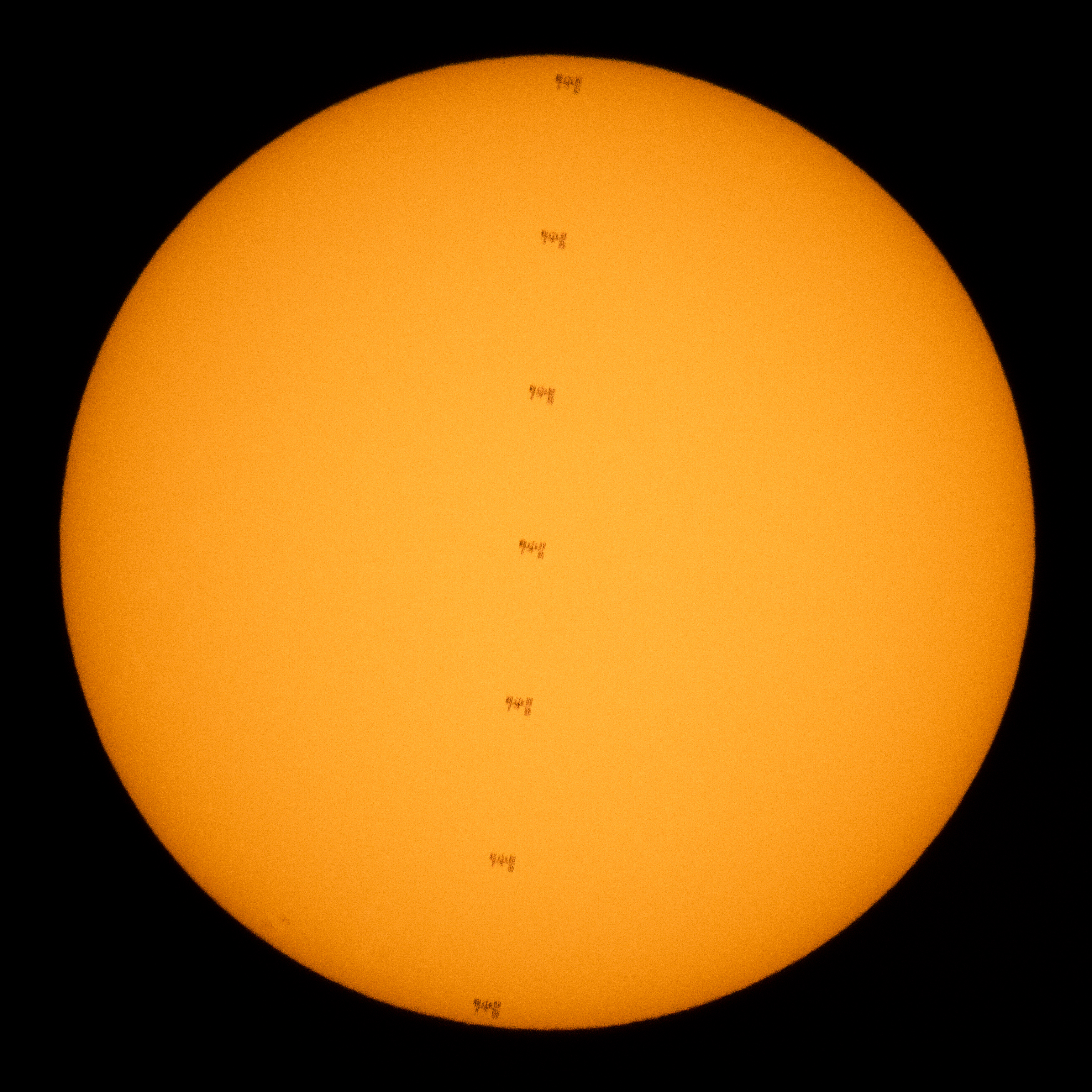 Space Station Transits the Sun