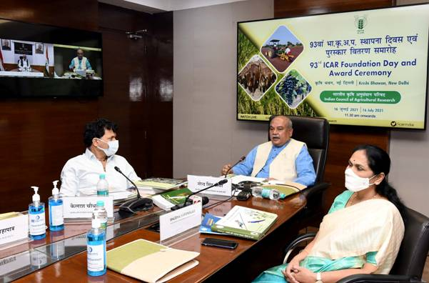 93rd Foundation day of Indian Council of Agriculture Research celebrated virtually