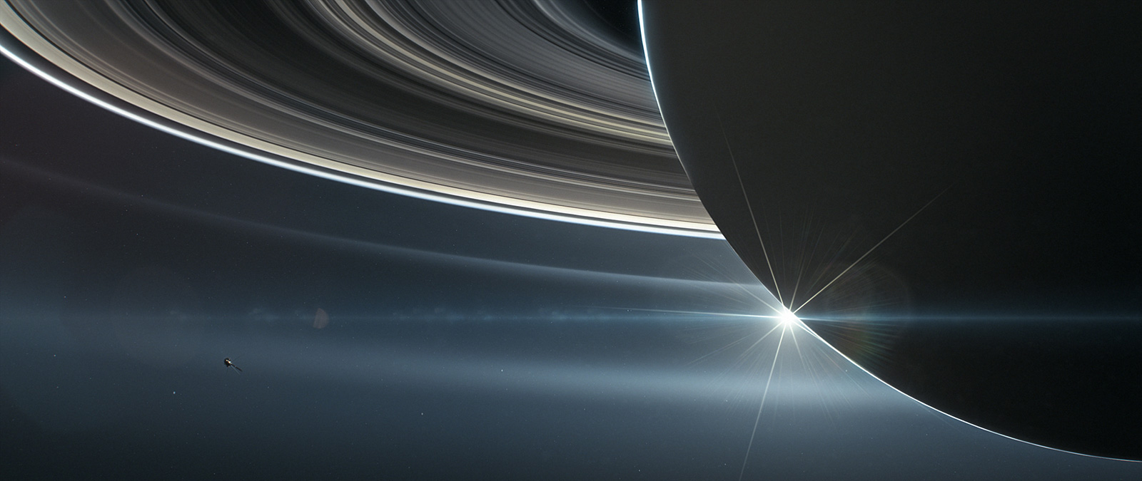 A View of the Rings of Saturn