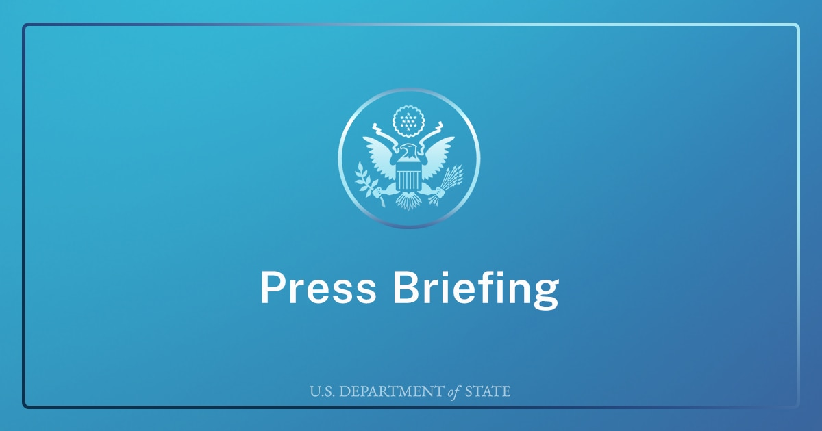 Department Press Briefing – July 7, 2021