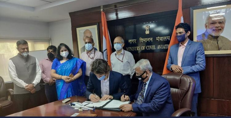 First aircraft purchase agreement signed between GIFT city-based Vman Aviation & Airbus Helicopters under the Atmanirbhar Bharat Abhiyan