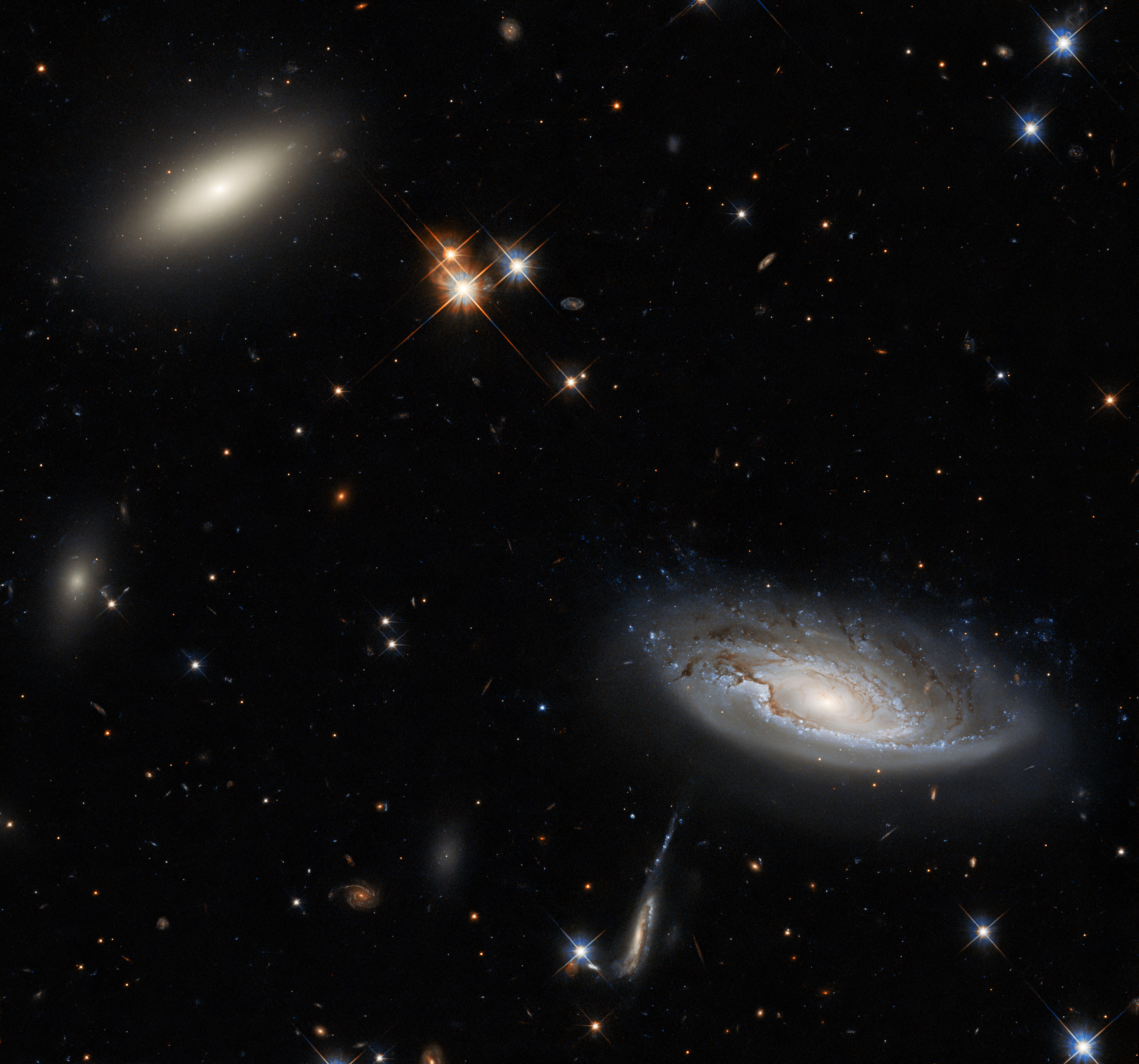 Hubble Glimpses a Galactic Duo