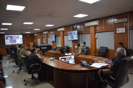 Last blast of Sela Tunnel's escape tube conducted by DG Border Roads through video conferencing