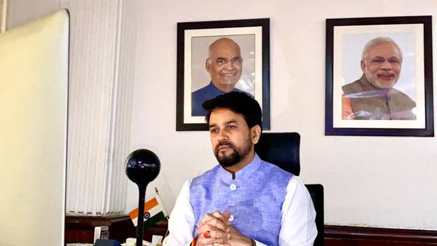 Minister of Youth Affairs and Sports Shri Anurag Thakur virtually launches official cheer song for Tokyo-bound Indian contingent
