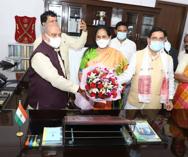 Ms. Shobha Karandlaje takes over as Minister of State in the Ministry of Agriculture and Farmers Welfare