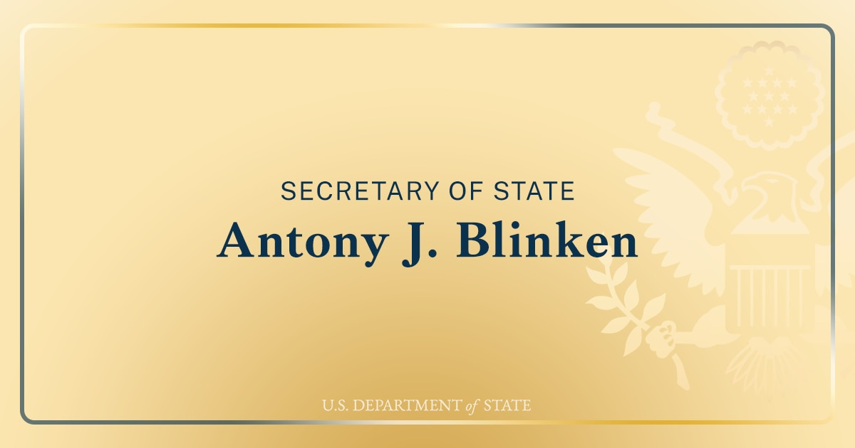 Secretary Antony J. Blinken And Chilean Foreign Minister Andres Allamand Before Their Meeting