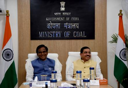 Shri Danve Raosaheb Dadarao takes charge as Minister of State Coal and Minister of State Mines