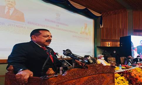 Union Minister Dr. Jitendra Singh says far reaching reforms like Prevention of Corruption Act & Abolition of Interviews for Group C and D posts along with over 800 Central Laws made applicable to J&K after it became UT