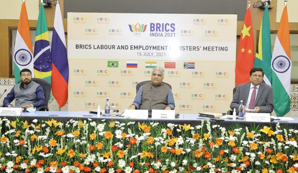 Union Minister for Labour & Employment Bhupender Yadav chairs 7th BRICS Labour & Employment Ministers' Meeting