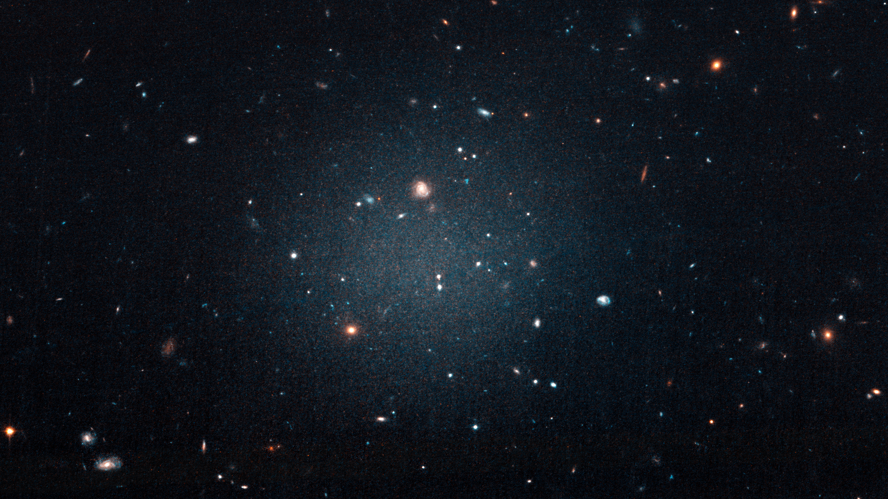 A Ghostly Galaxy's Lack of Dark Matter