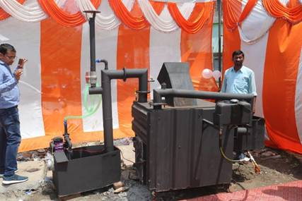 Decentralized Biomedical Waste Incinerator inaugurated in Buxar,Bihar by the Office of the Principal Scientific Adviser to Government of India and Buxar District Administration