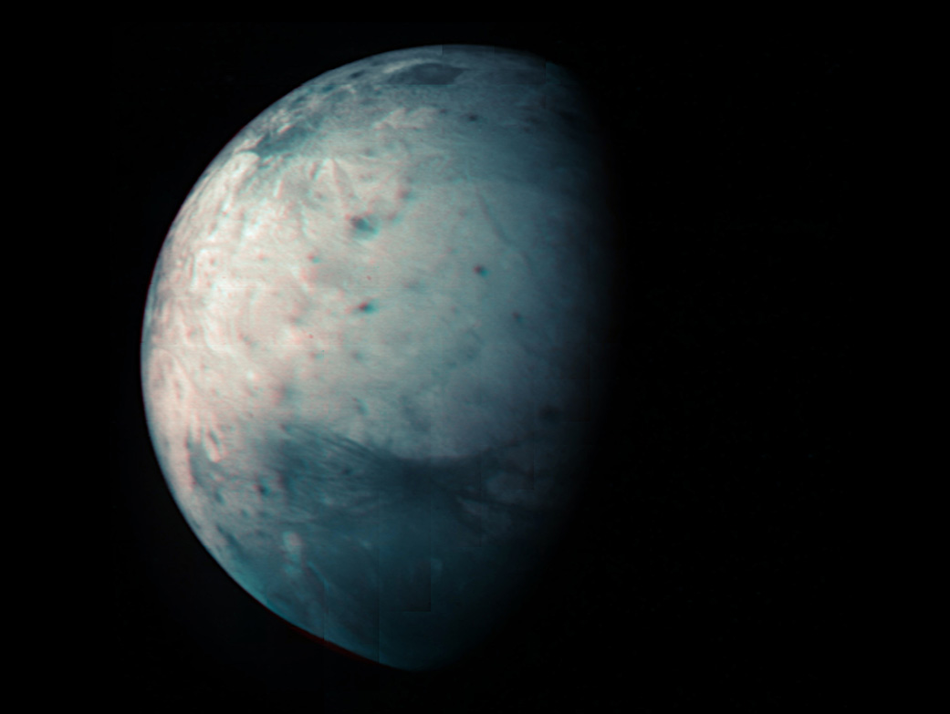 Juno Celebrates 10 Years With a New View of Jovian Moon Ganymede