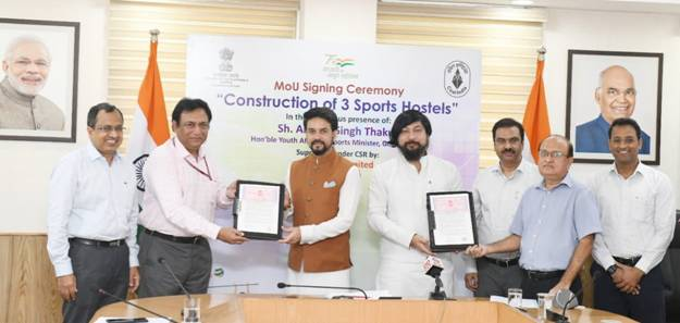 Coal India Limited contributes Rs. 75 cr. towards National Sports Development Fund of Ministry of Youth Affairs & Sports