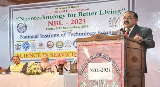 Dr Jitendra Singh inaugurates five-day International Conference on Nanotechnology for Better Living at Srinagar