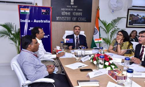 """First India-Australia Joint Working Group (JWG) on """"Coal and Mines"""" held Virtually"""