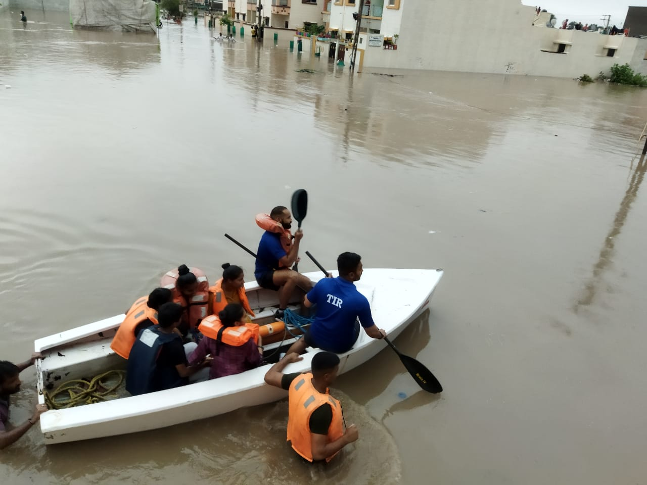 FLOOD RELIEF OPERATIONS AT GUJARAT BY INDIAN NAVY
