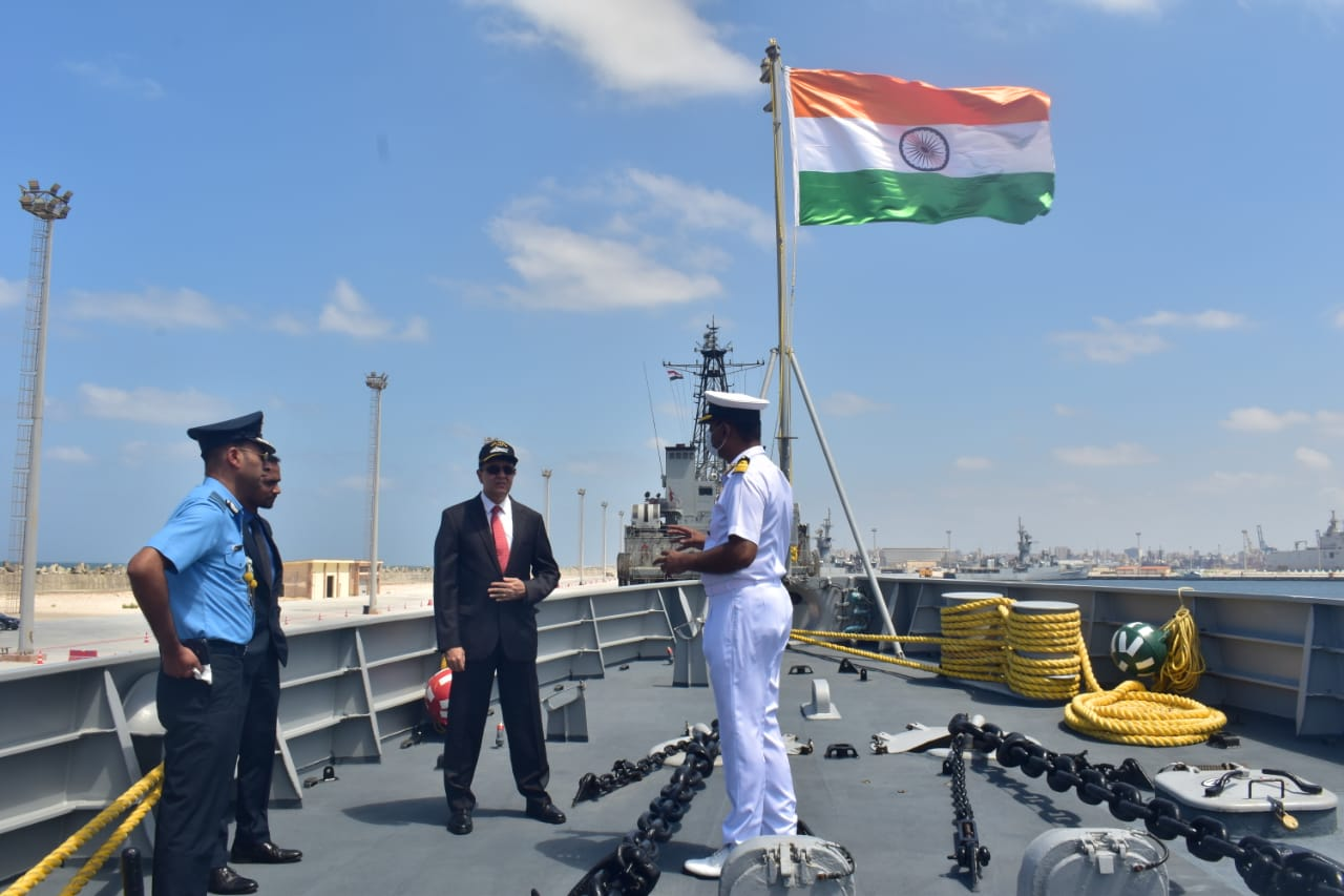 INS TABAR'S VISIT TO ALEXANDRIA